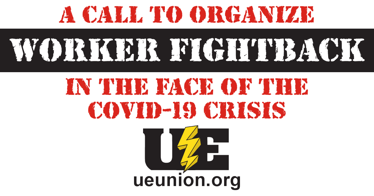 A Call to Organize Worker Fightback in the Face of the COVID-19 Crisis