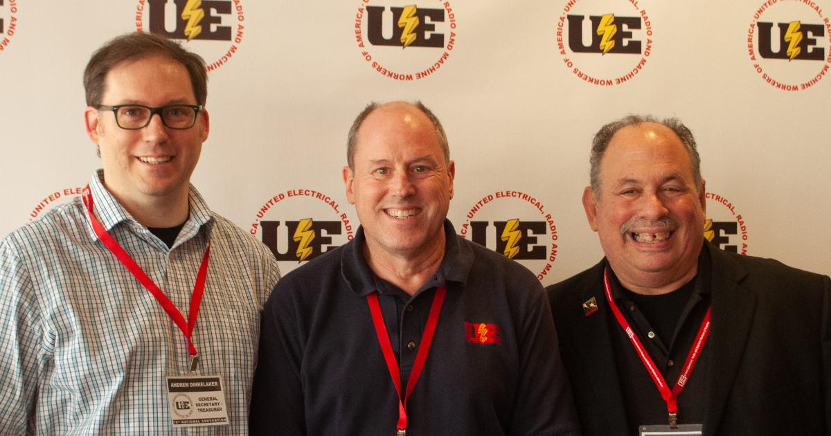 UE Officers: Andrew Dinkelaker, Carl Rosen and Gene Elk