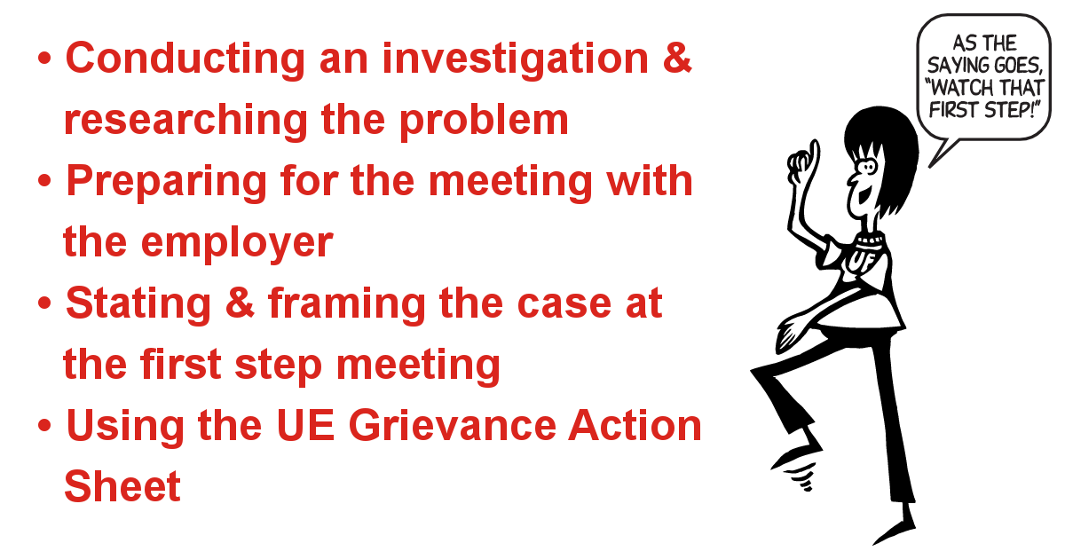 Step One of the Grievance Procedure | UE