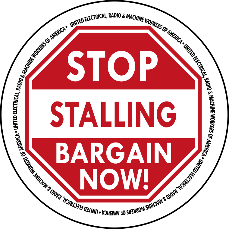 "Button with text ""Stop Stalling, Bargain Now"" inside a stop-sign graphic"