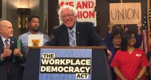 Senator Bernie Sanders introduces Workplace Democracy Act